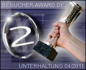 """2. Platz beim Besucher-Award in Kategorie """"Unterhaltung"""""""