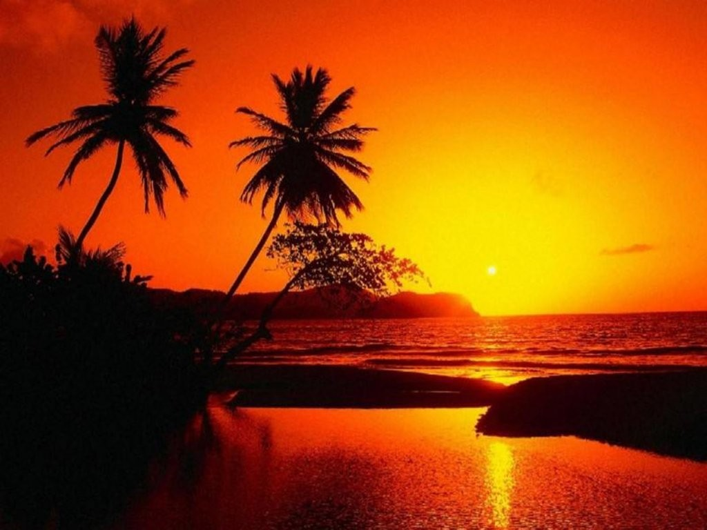 Schöner Sonnenuntergang Wallpaper