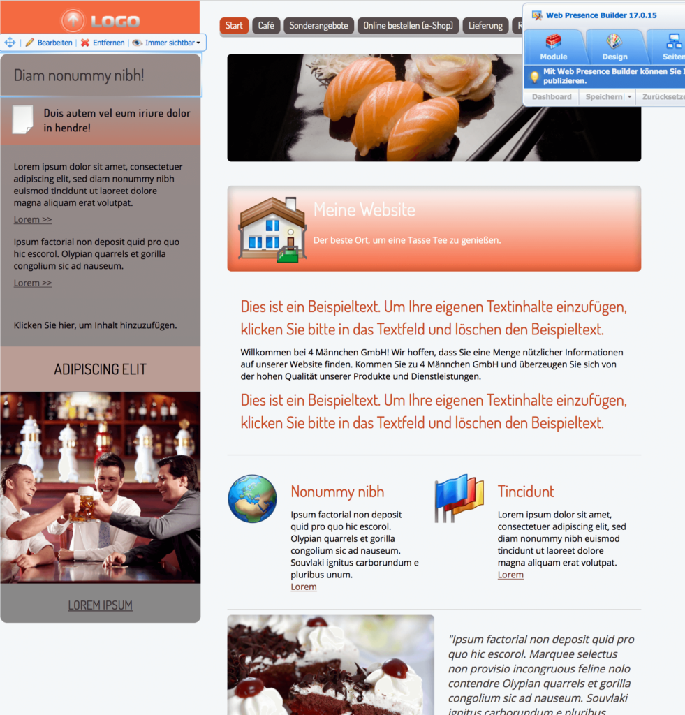 webpresence_demo_website_cafe