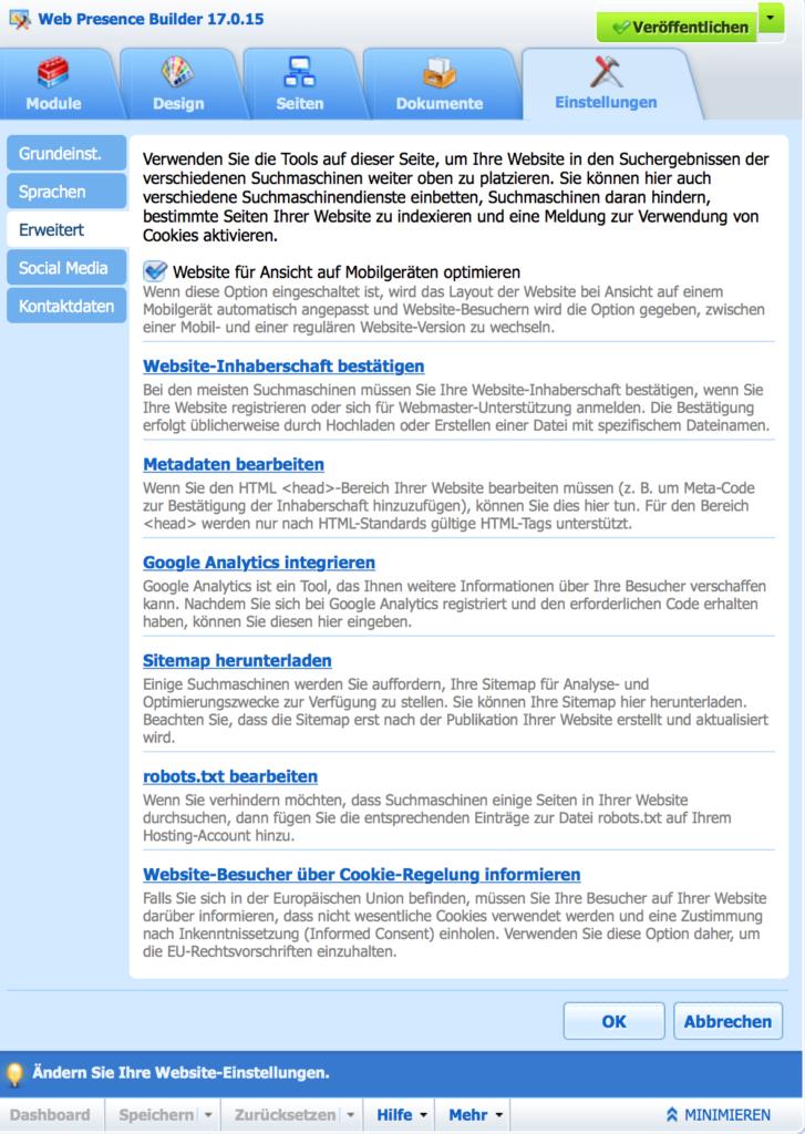 webpresence_einstellungen_erweitert